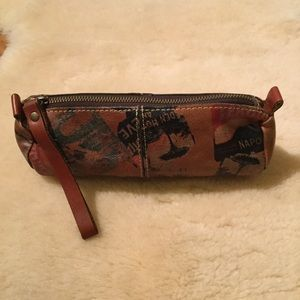 Patricia Nash leather oblong pouch